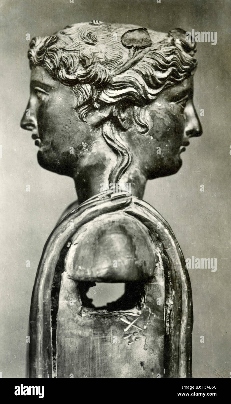 Two Faced Statue Of Janus Italy Stock Photo Royalty Free Image 89221732 Alamy