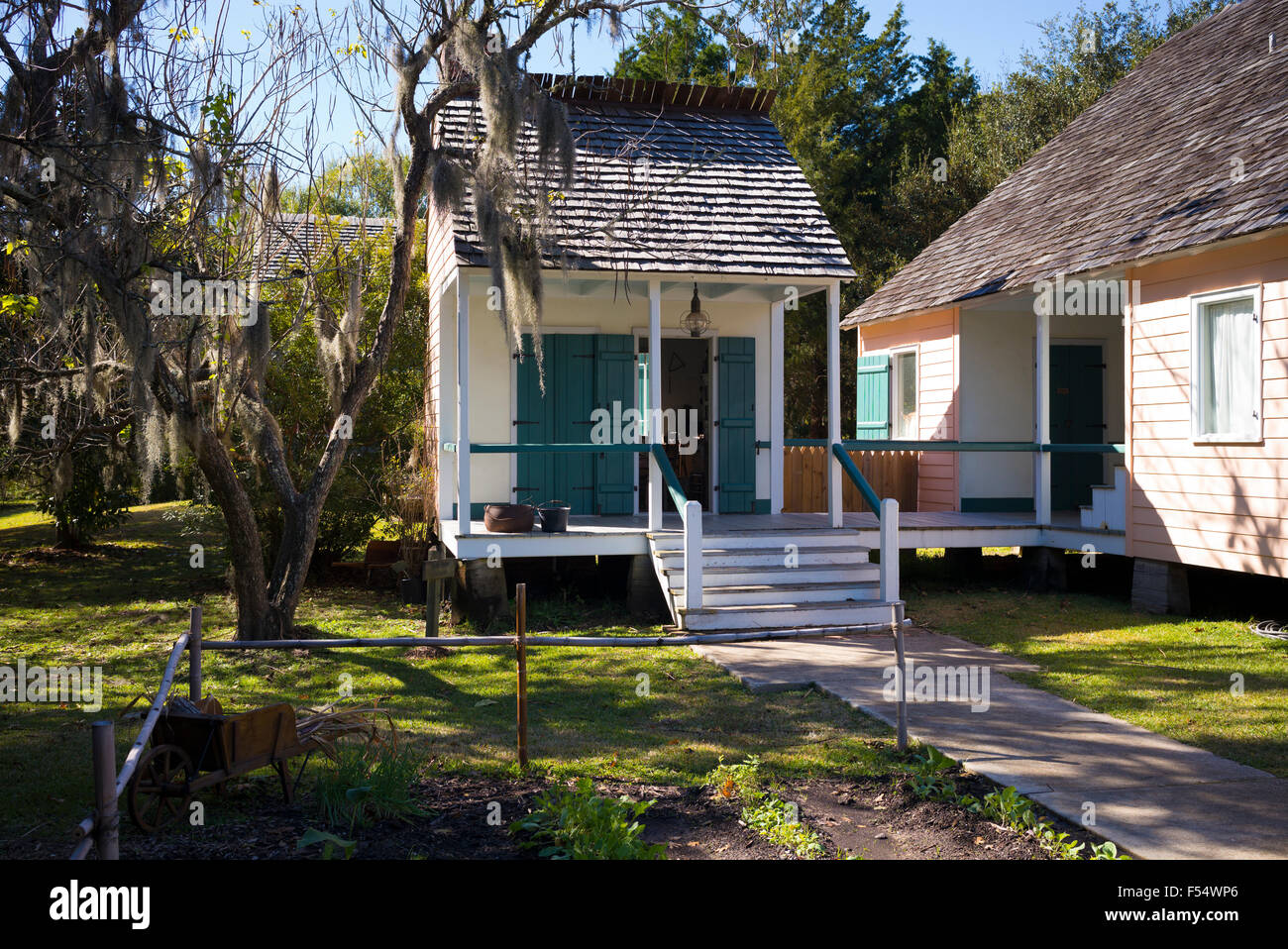cabin houses at vermilionville living history museum of acadian