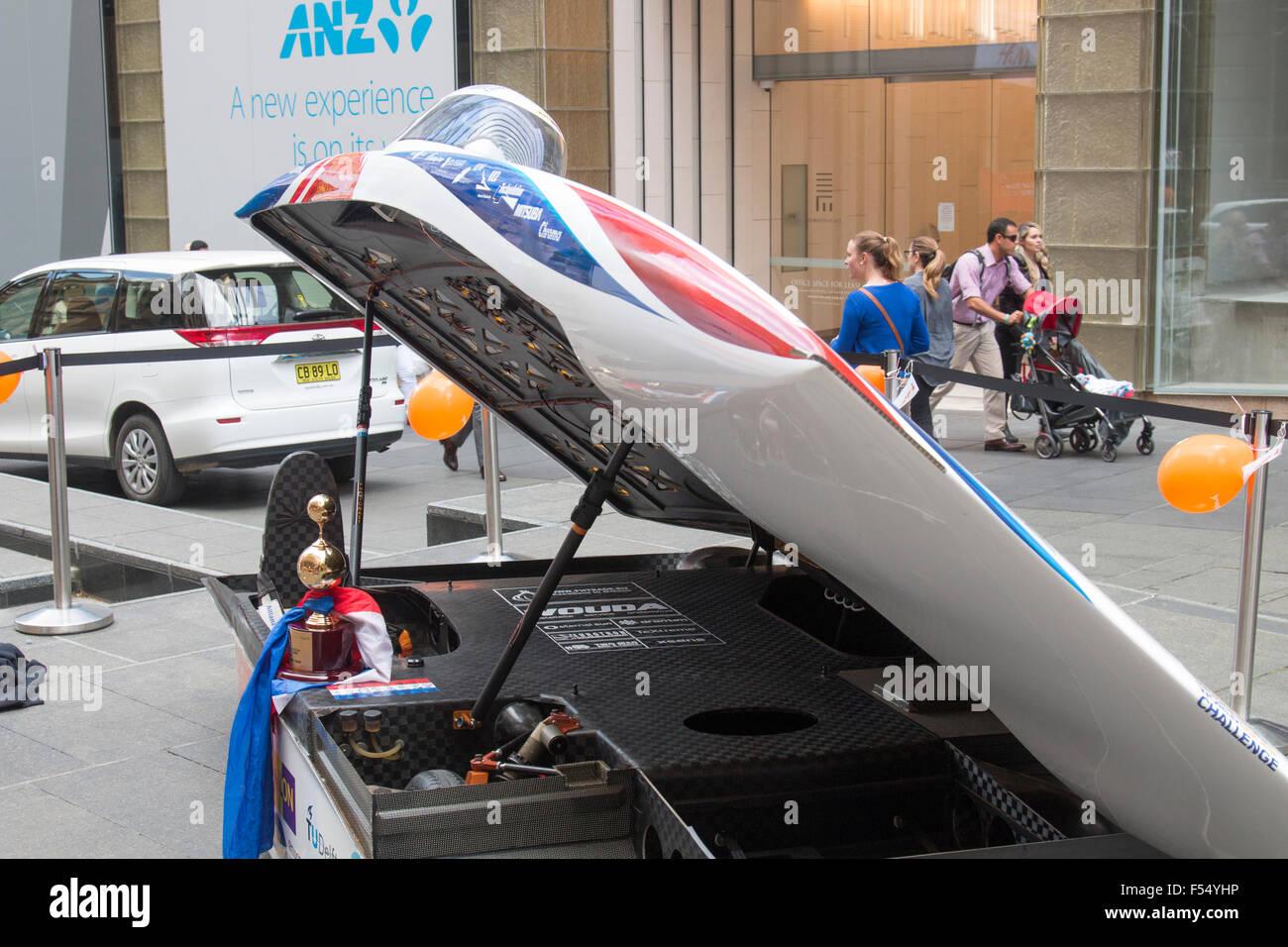 Sydney Australia 28th Oct 2015 Dutch Cars Nuon Nuna 8