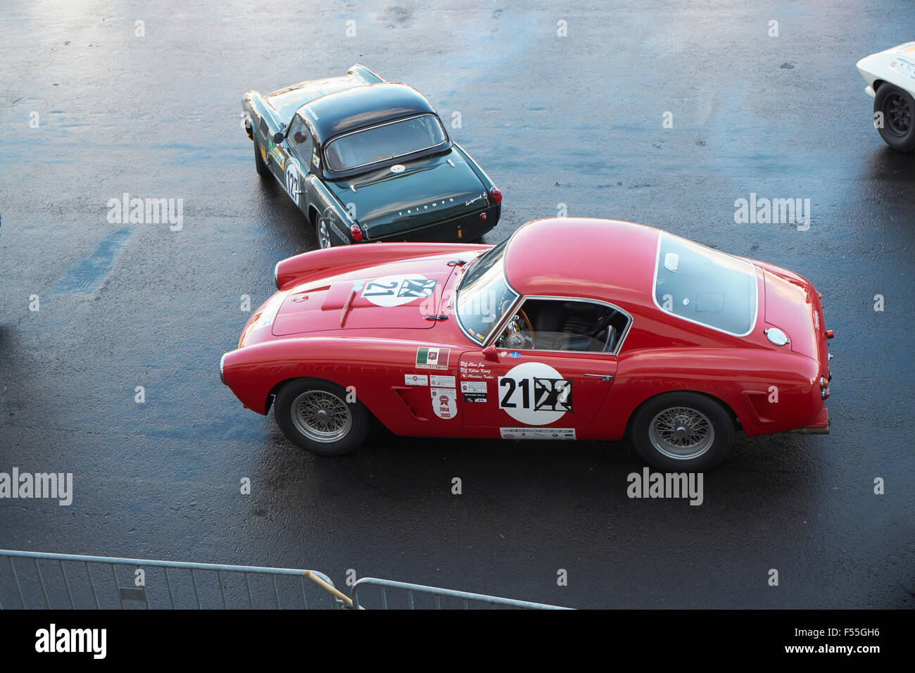 Germany, Nurburgring, Ferrari 250 SWB Competition and Triumph ...