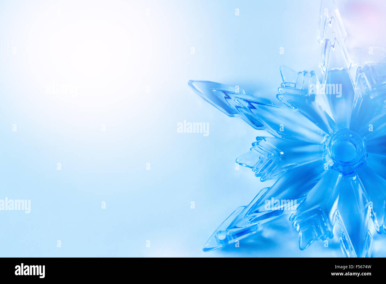 simple light blue christmas background with crystal