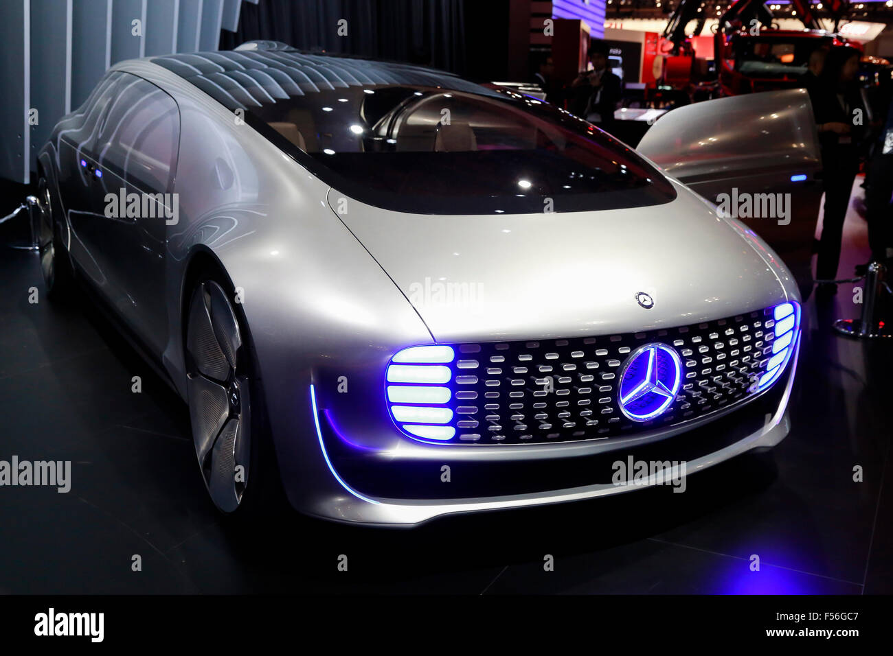 The New Mercedes Benz F015 Luxury In Motion Car On Display During