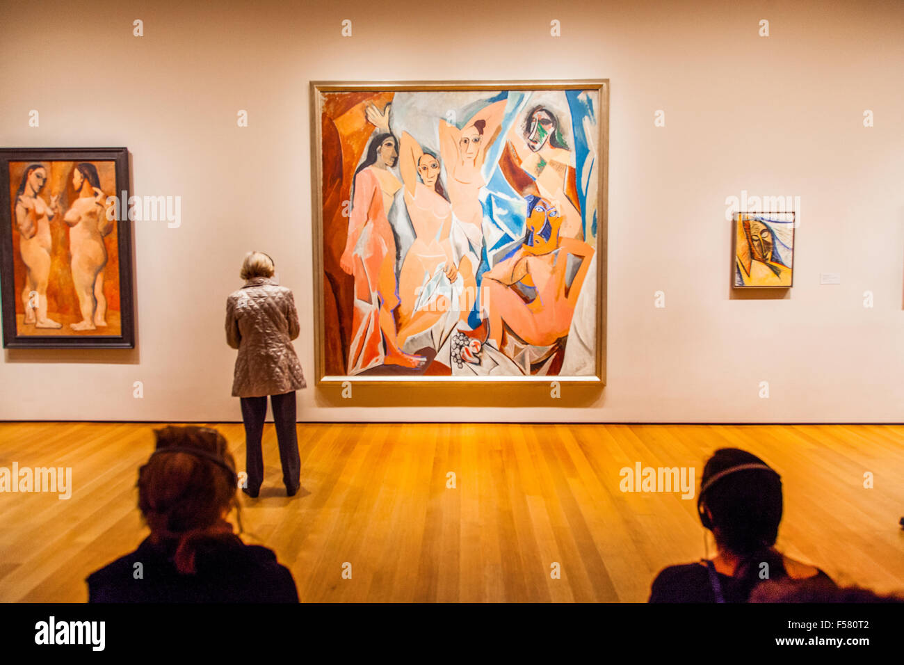 pablo picasso painting les demoiselles d 39 avignon at the museum of stock photo royalty free. Black Bedroom Furniture Sets. Home Design Ideas