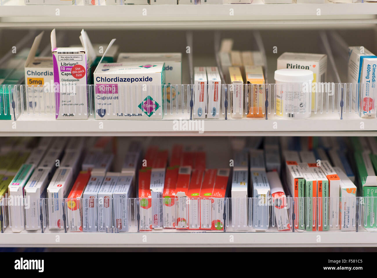 stock shelves