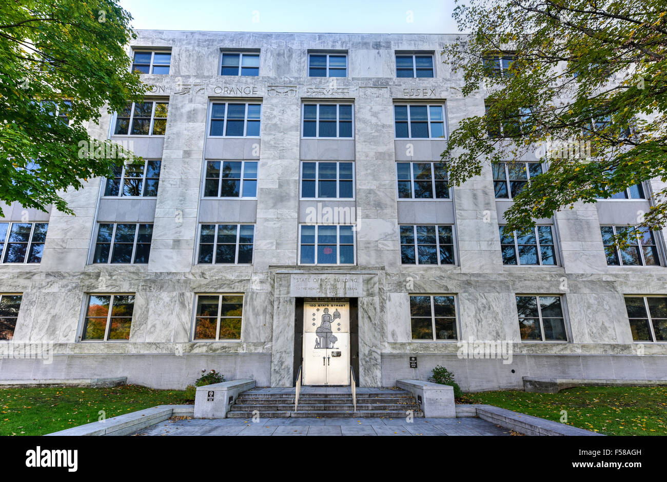 state office building of vermont in montpelier the art deco building houses the department of art deco office building