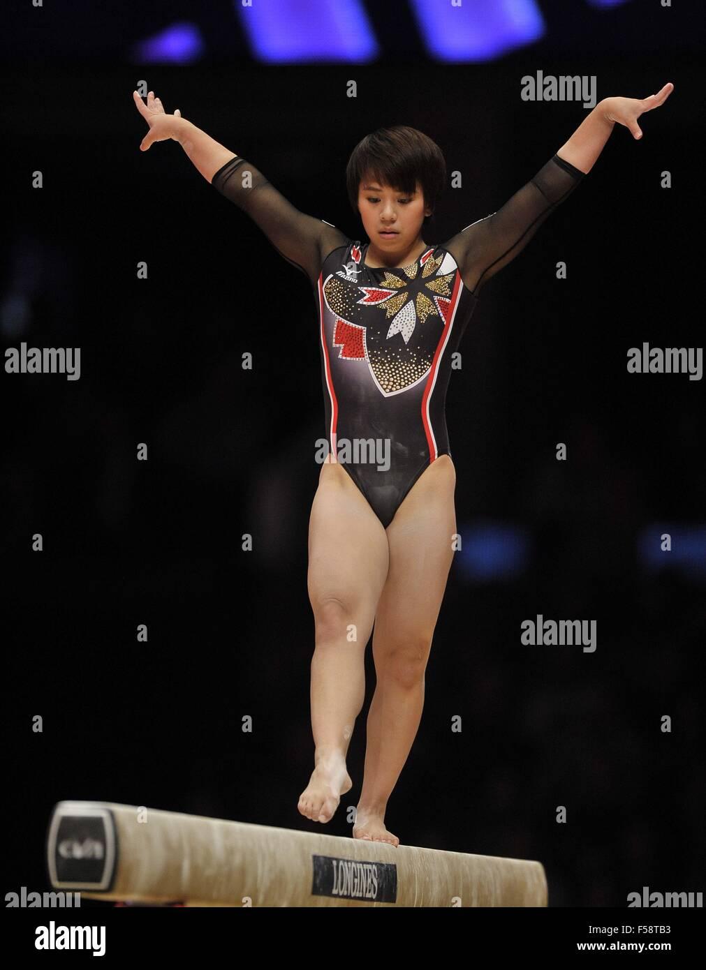 mai murakami Mai Murakami (JPN) on the balance beam. Womens All-Around final. 2015 FIG  artistic gymnastics world championships. SSE Hydro. Glasgow. Scotland. UK.