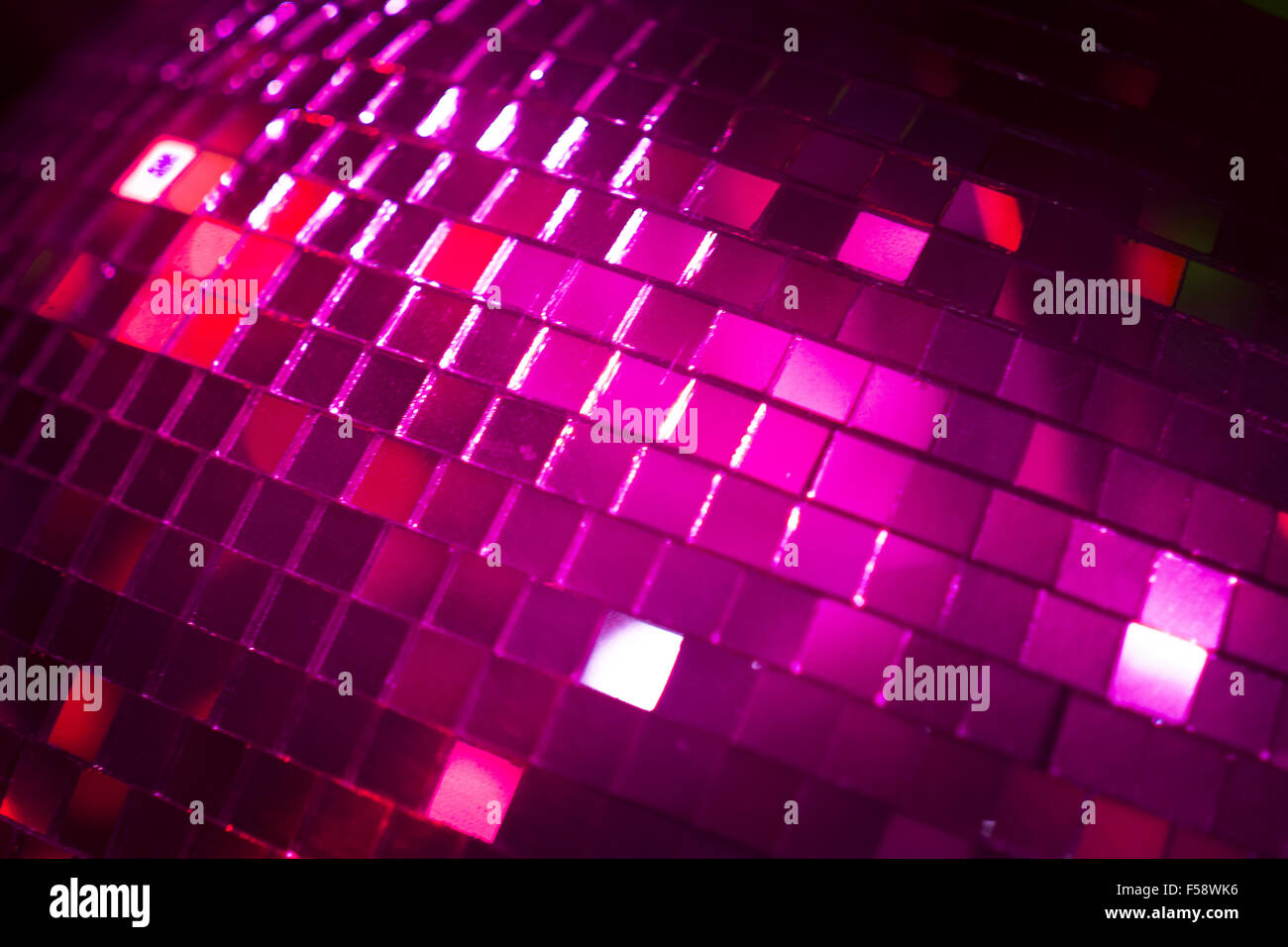 Disco Ball In Ibiza House Techno Dance Music Wedding Reception Party Nightclub With Colored Lighting