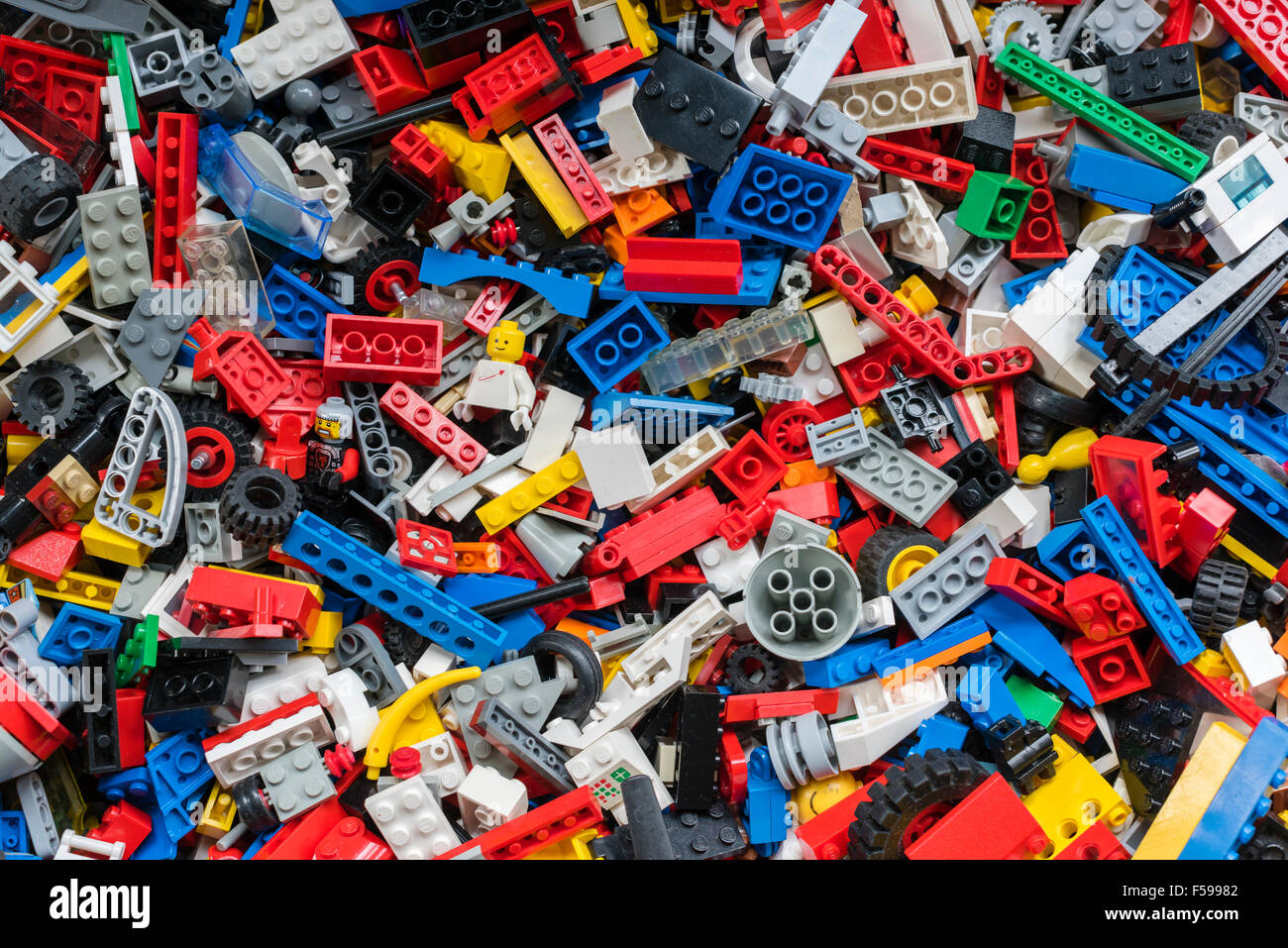 Legos For Free View From Above Into A Box Full Of Mixed Colourful Lego Bricks