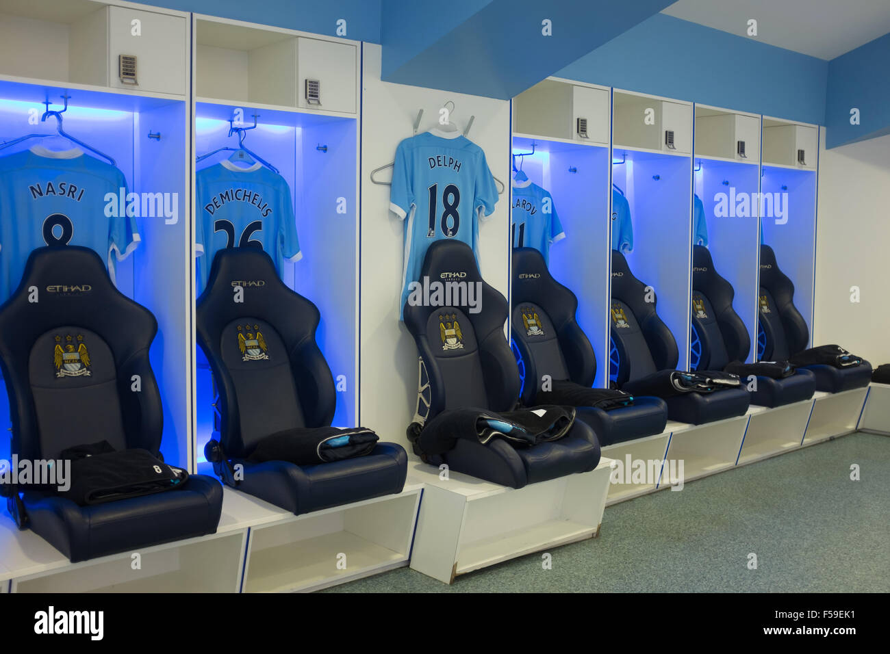 Baseball Themed Bedrooms The Dressing Changing Rooms At Manchester City Football