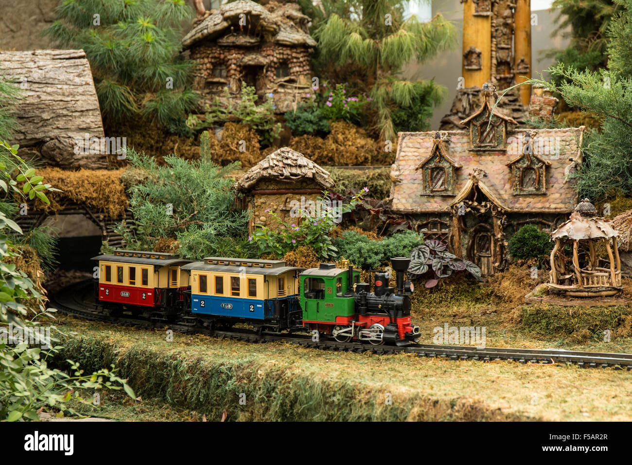 Garden Railroad In The Franklin Park Conservatory And Botanical Garden In  Columbus, Ohio