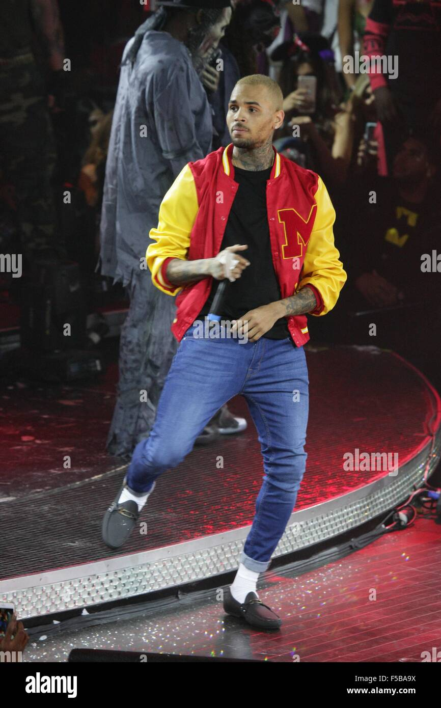 Las Vegas, NV, USA. 31st Oct, 2015. Chris Brown at arrivals for ...