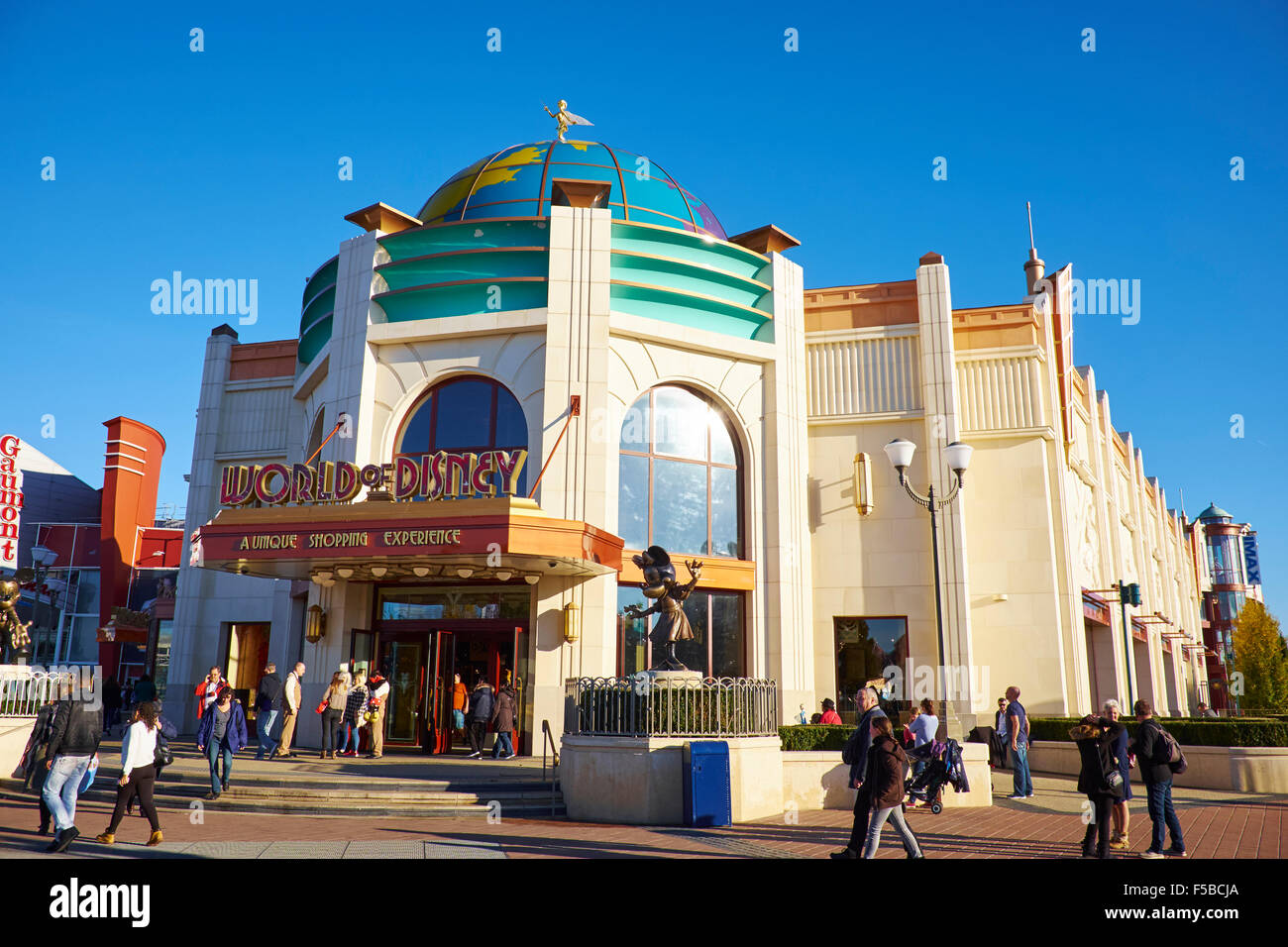world of disney store within the disney village disneyland paris stock photo royalty free. Black Bedroom Furniture Sets. Home Design Ideas