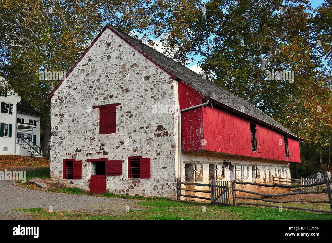 Hopewell Furnace Pennsylvania The Stone And Wooden Barn Housed 36 Draft Animals At Natl Historic Site