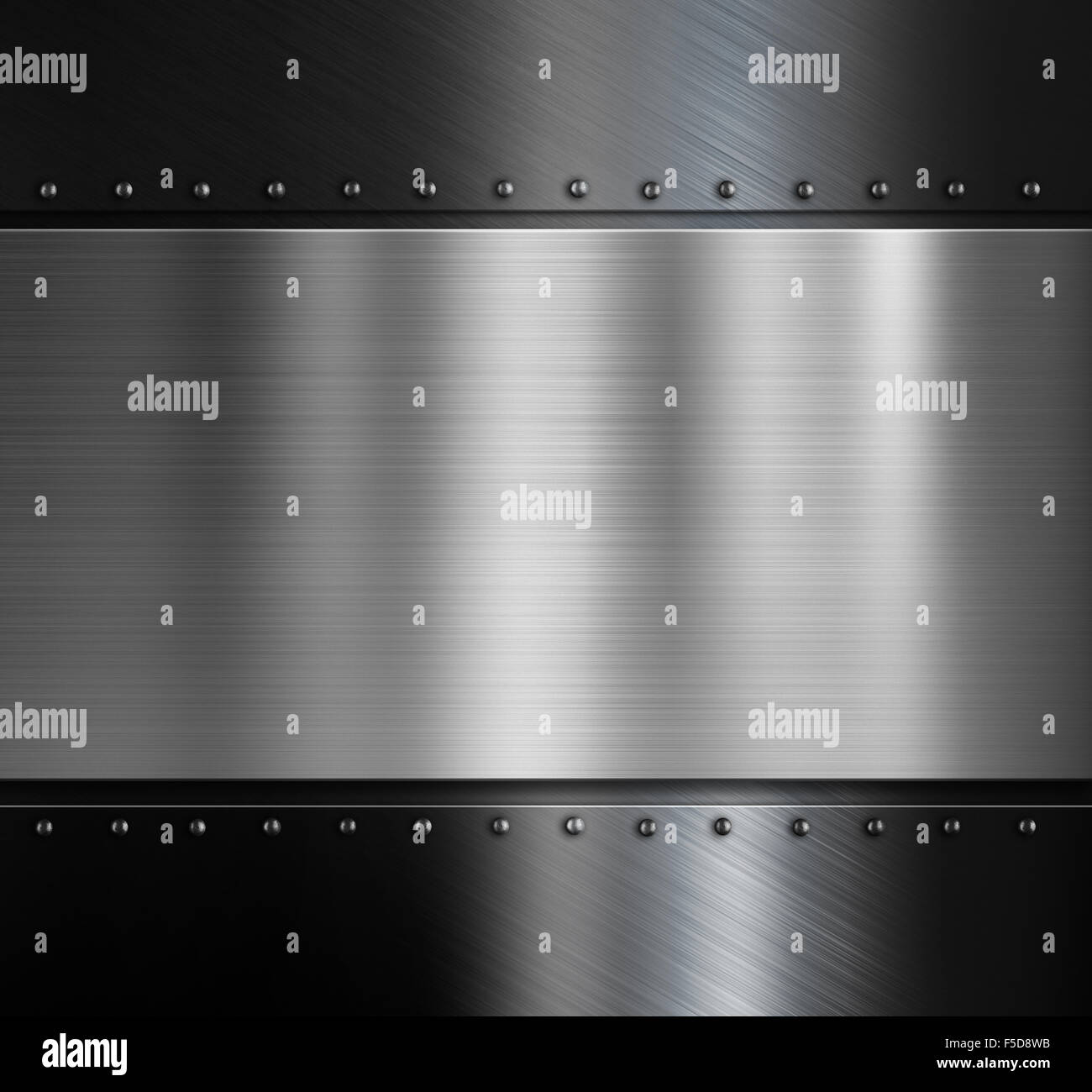 metal plate over black metallic background with rivets