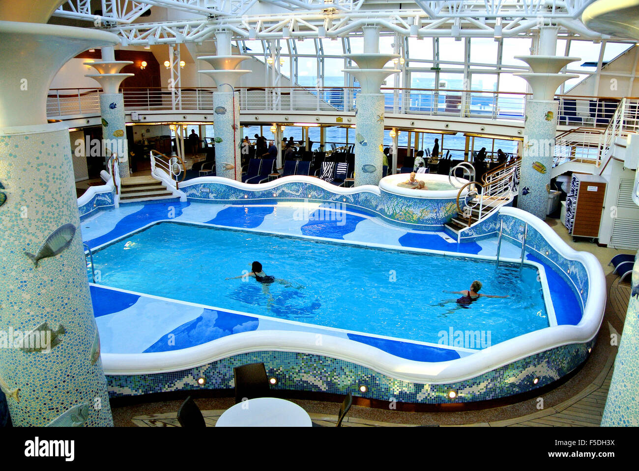 View of swimming pool on royal princess cruise ship stock photo royalty free image 89423934 for River cruise ships with swimming pool