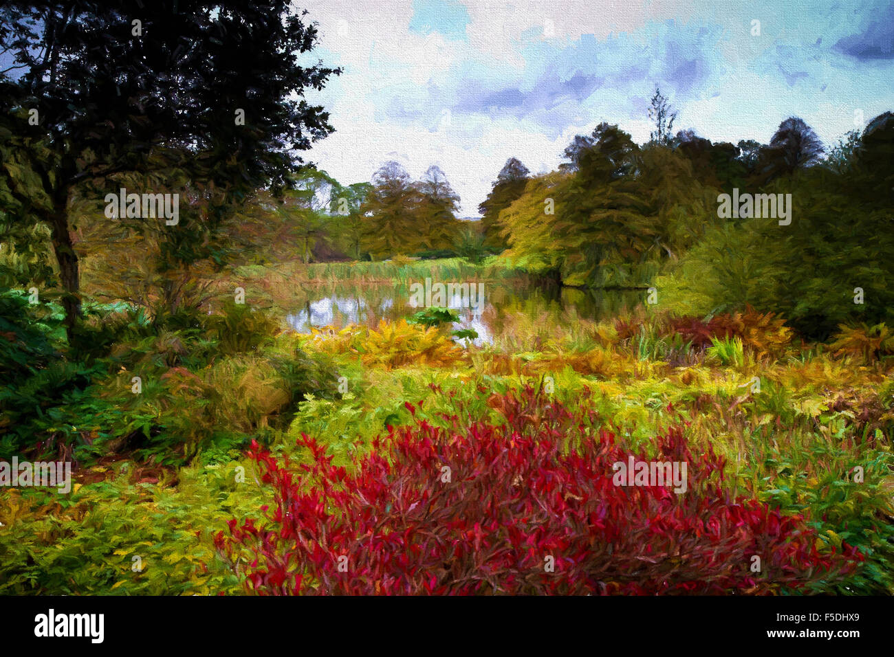 English country garden paintings -
