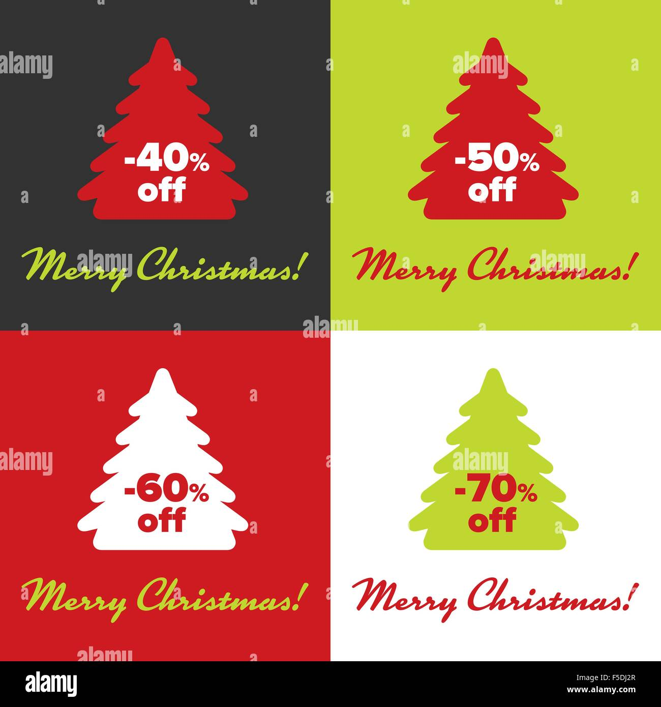 merry christmas sticker template with sample text stock vector art