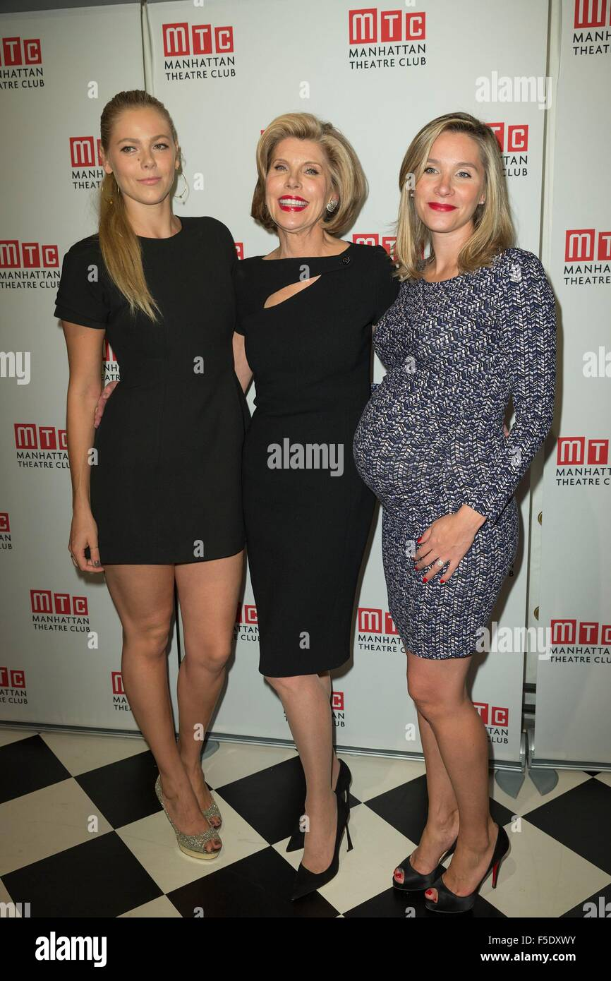 New York, NY, USA. 2nd Nov, 2015. Lily Cowles, Christine Baranski, Isabel Cowles at arrivals for Manhattan Theatre Club Fall Benefit, 583 Park Avenue, New York, NY November 2, 2015. Credit:  Lev Radin/Everett Collection/Alamy Live News