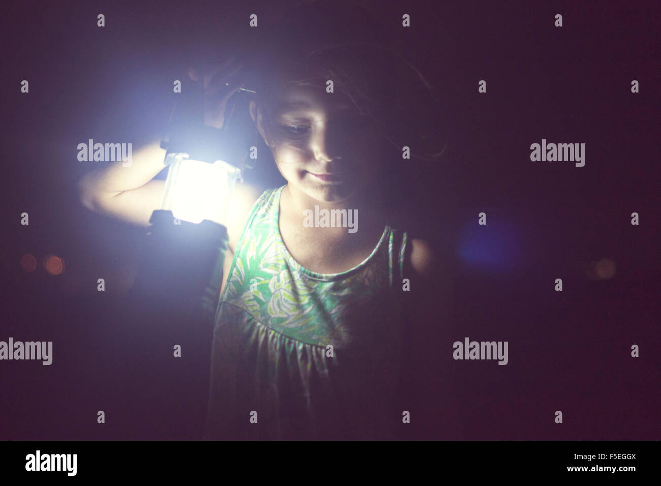 Girl holding lamp in the darkness Stock Photo, Royalty Free Image ... for Girl Holding Lamp  75tgx