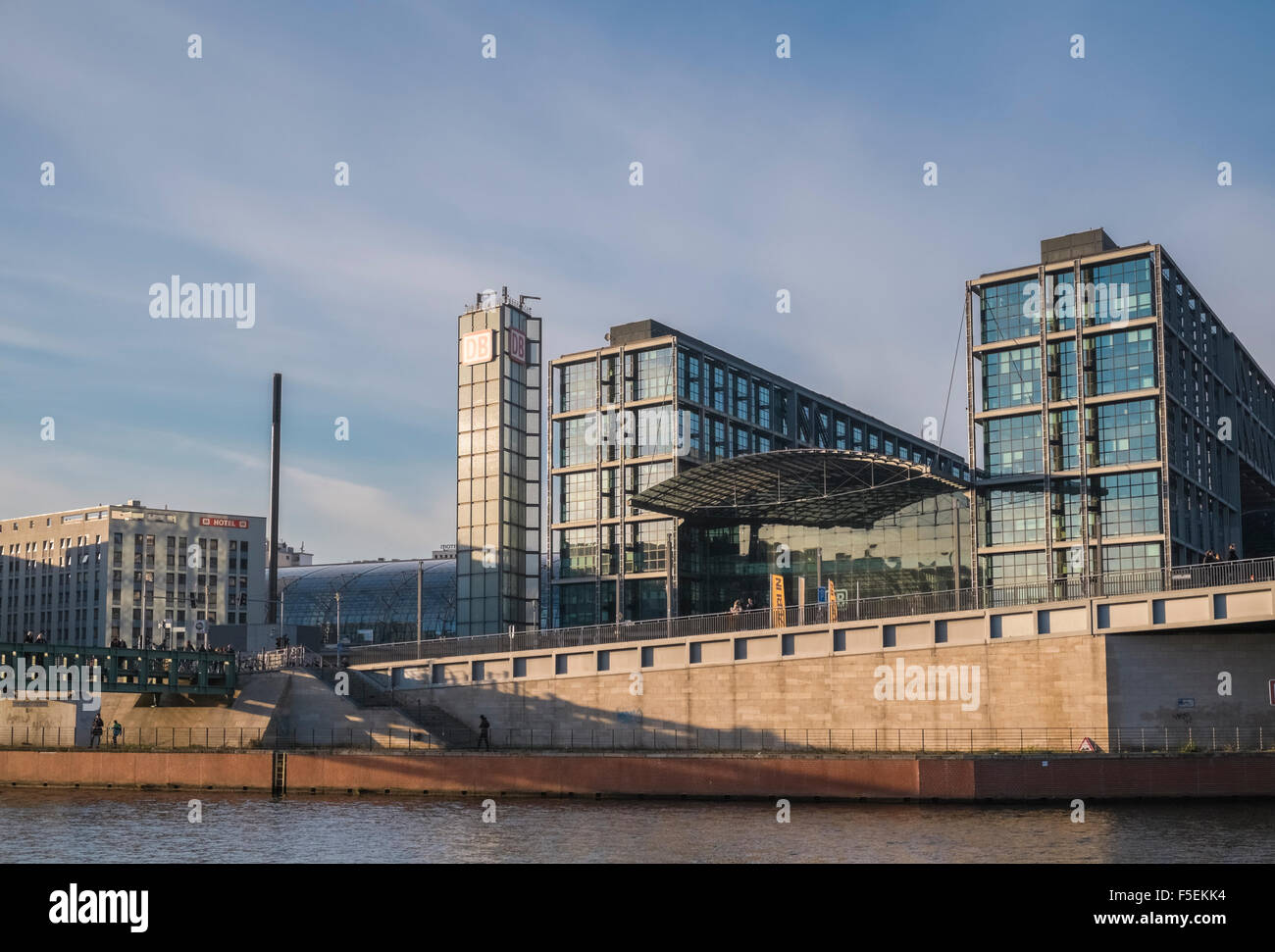 Modern Architecture Berlin modern architecture of the deutsche bahn building, overlooking the