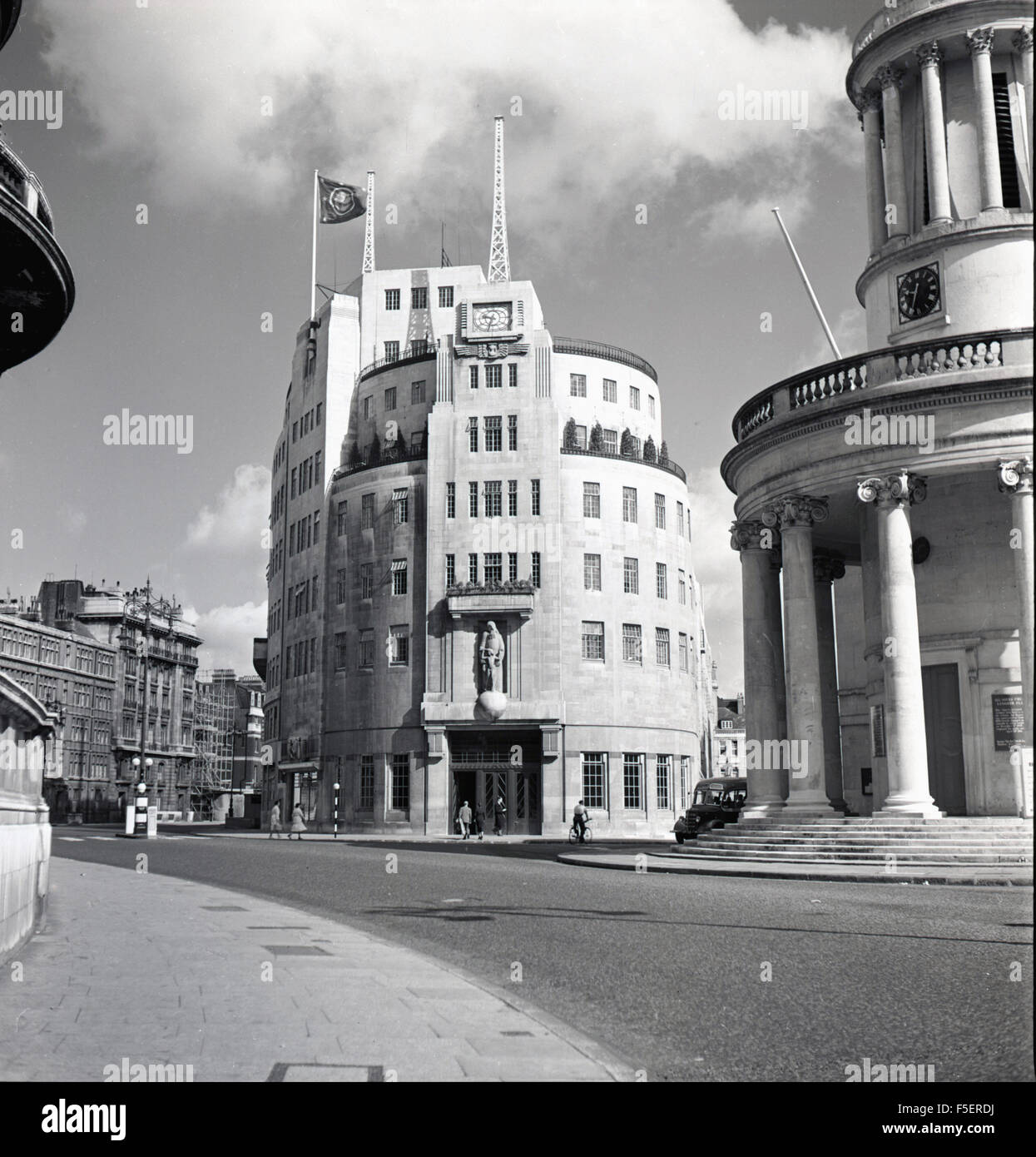 1950S House Enchanting 1950S Historical Exterior Of Broadcasting House Marylebone Decorating Inspiration