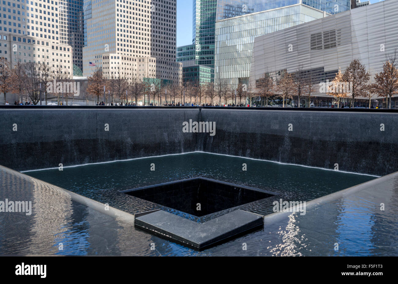9 11 Memorial North Pool At The Site Of The World Trade Centre Stock Photo Royalty Free Image