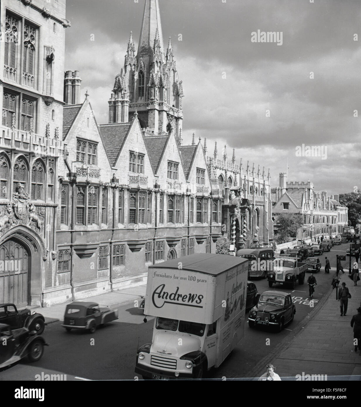 Early 1950s Historical Busy Street By Oxford University