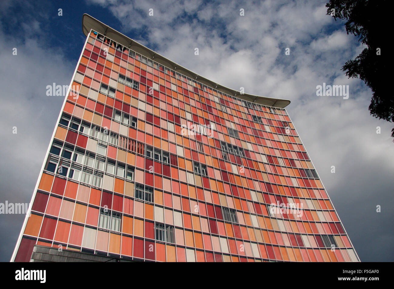the gsw hochhaus the new headquarters for the internet startup stock photo royalty free. Black Bedroom Furniture Sets. Home Design Ideas