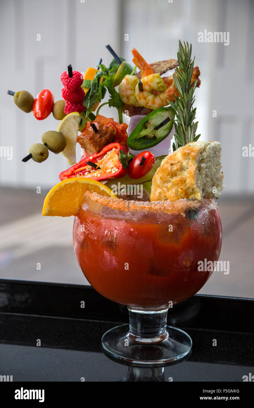las vegas, nevada. guy's hangover recovery bloody mary, guy