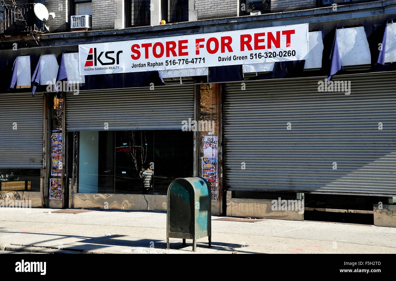 New york city store for rent sign on a former sneaker for Rent new york city
