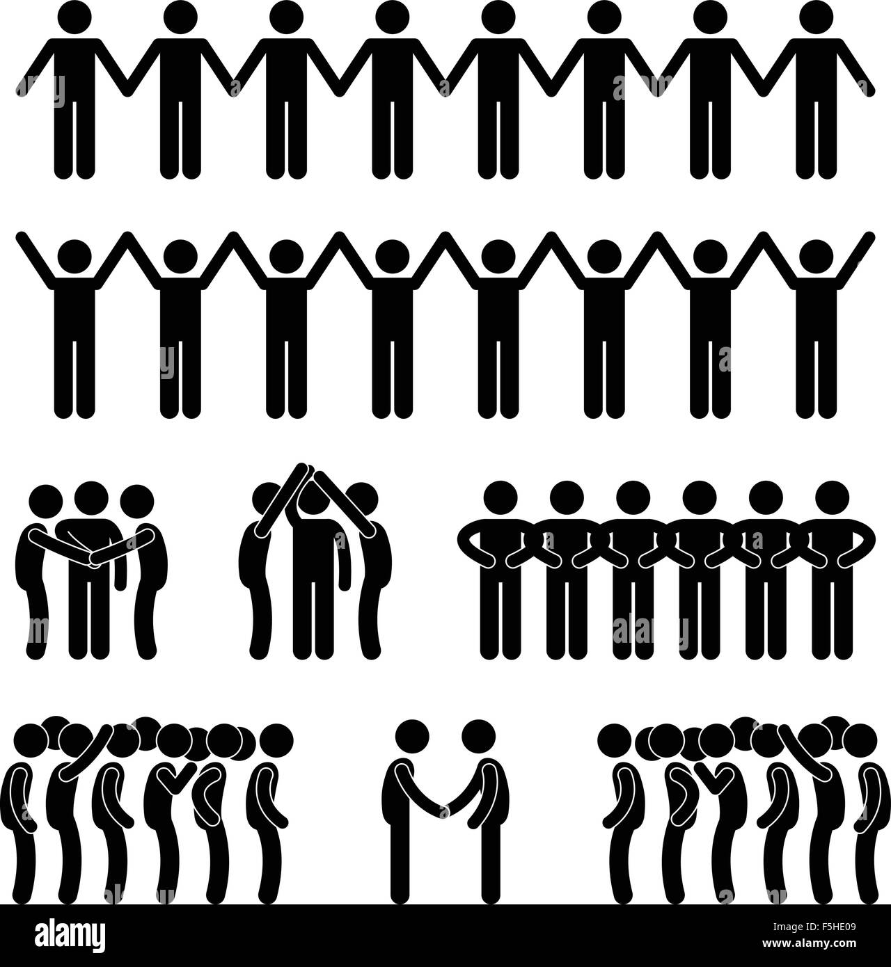 Vector Drawing Lines Unity : Man united unity community holding hand stick figure