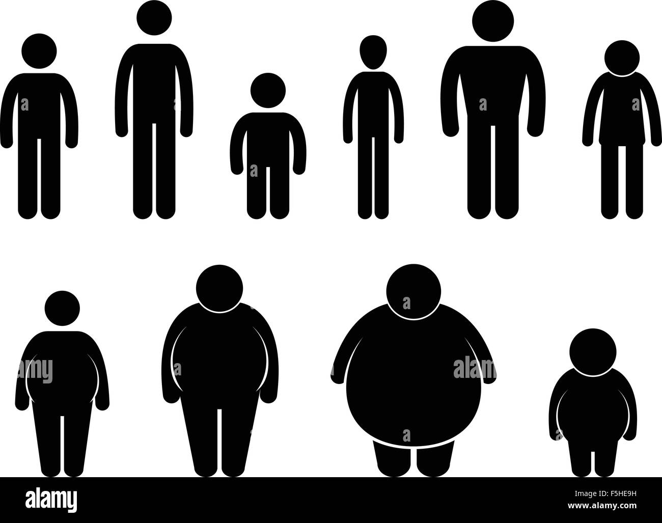 Man Body Figure Size Icon Symbol Sign Pictogram Stock