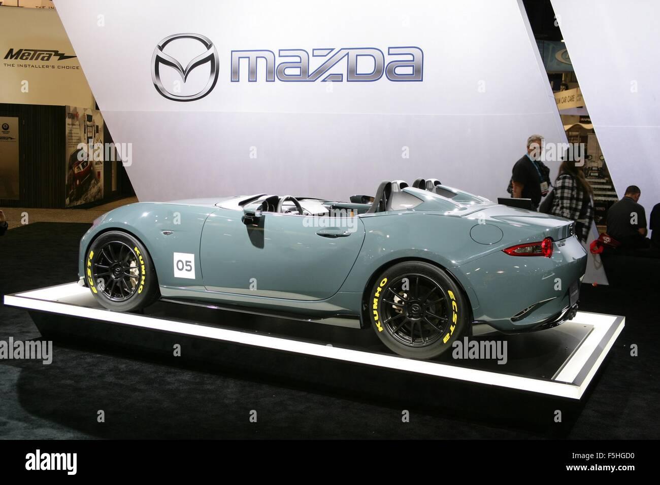 Las vegas nv usa 4th nov 2015 2016 mx 5 speedster for Pool trade show las vegas 2015