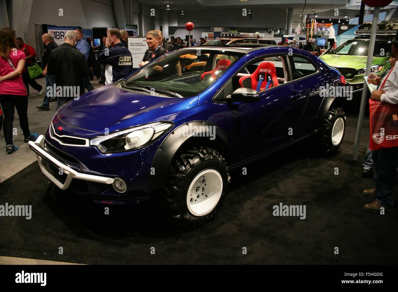 Kia Las Vegas >> Las Vegas Nv Usa 4th Nov 2015 Kia Forte Koup Mud Bogger Car