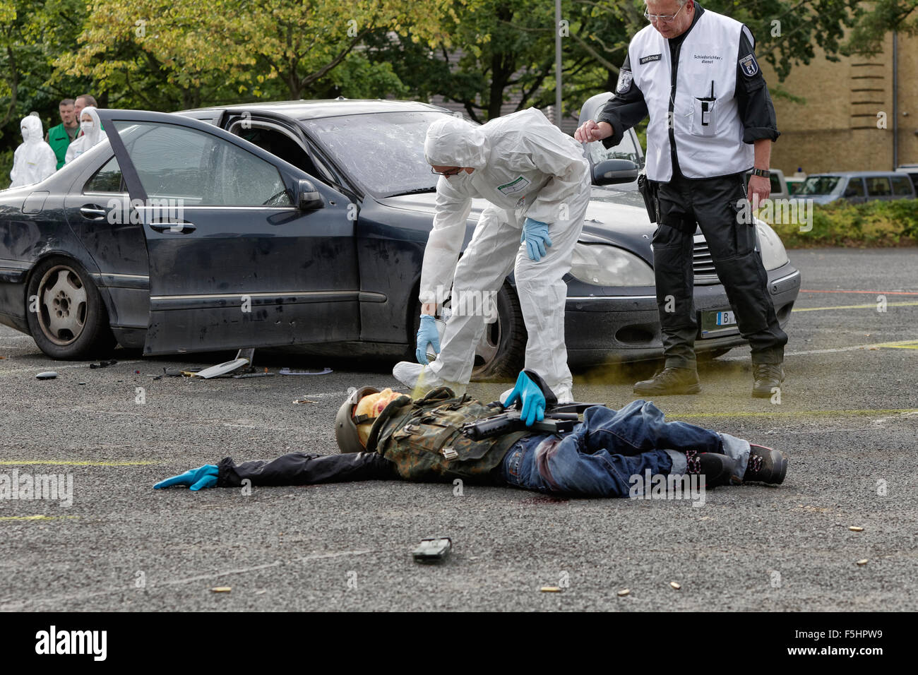 Berlin Germany Polizeiuebung Terrorist Attack Stock
