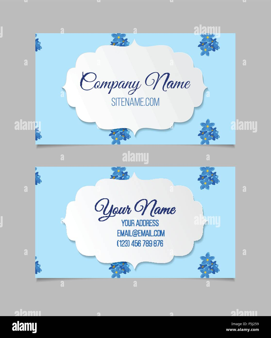 Floral business card template Stock Vector Art & Illustration ...