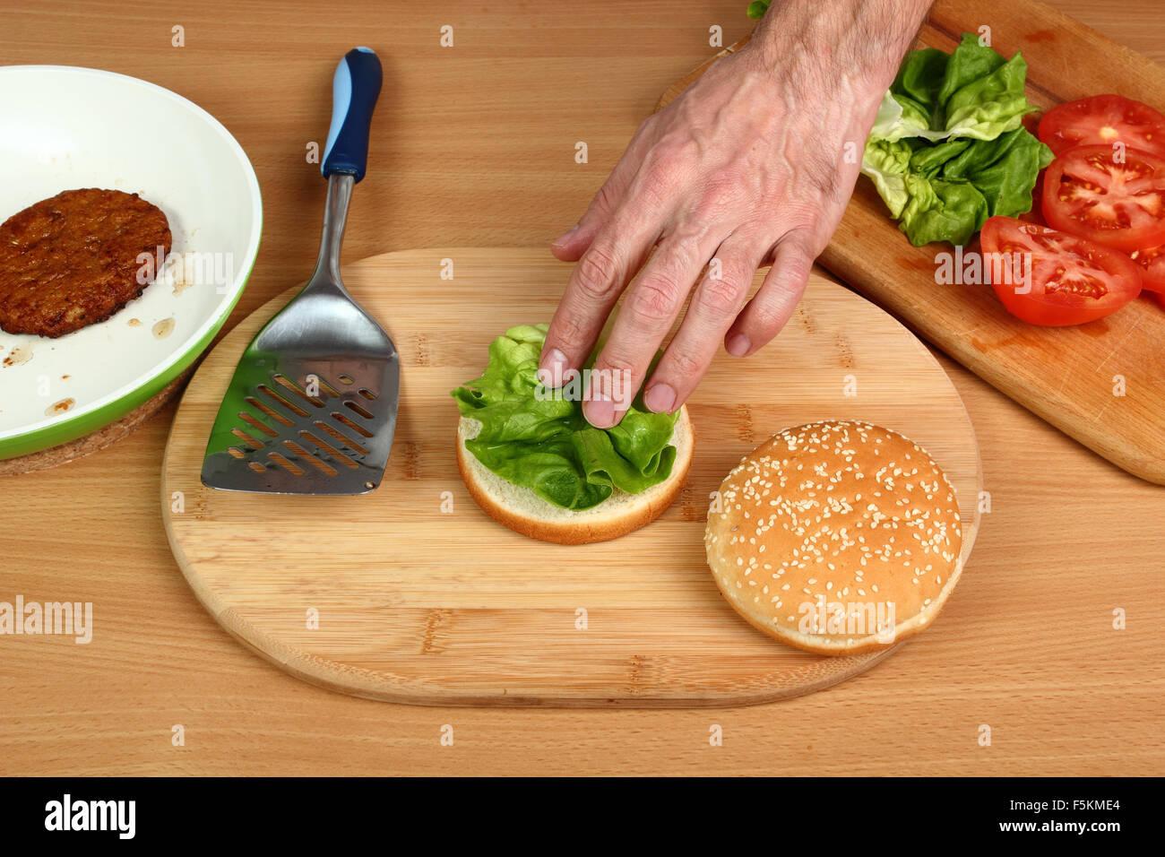 how to pan cook a hamburger