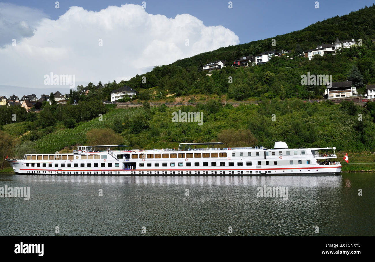 River Cruise Ship Alemannia Registered In Switzerland Moored On The Stock P