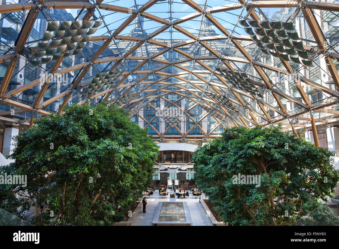 Interior Atrium Of Portcullis House In Westminster, London, UK   Stock Image