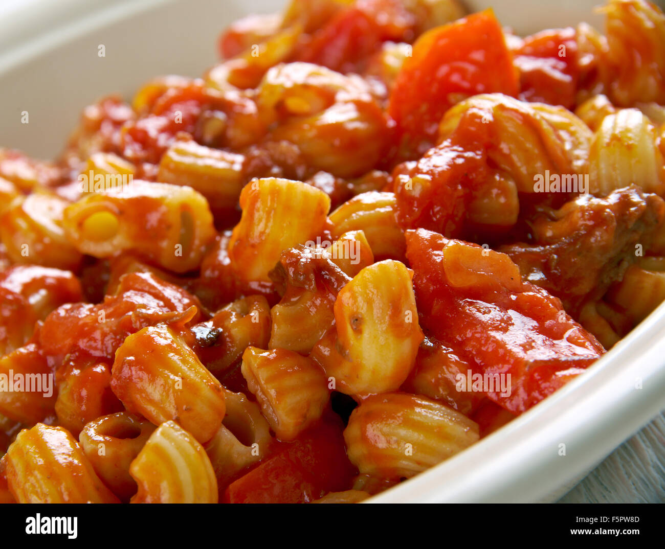 American chop suey american pasta dish beef as tomato for American italian cuisine