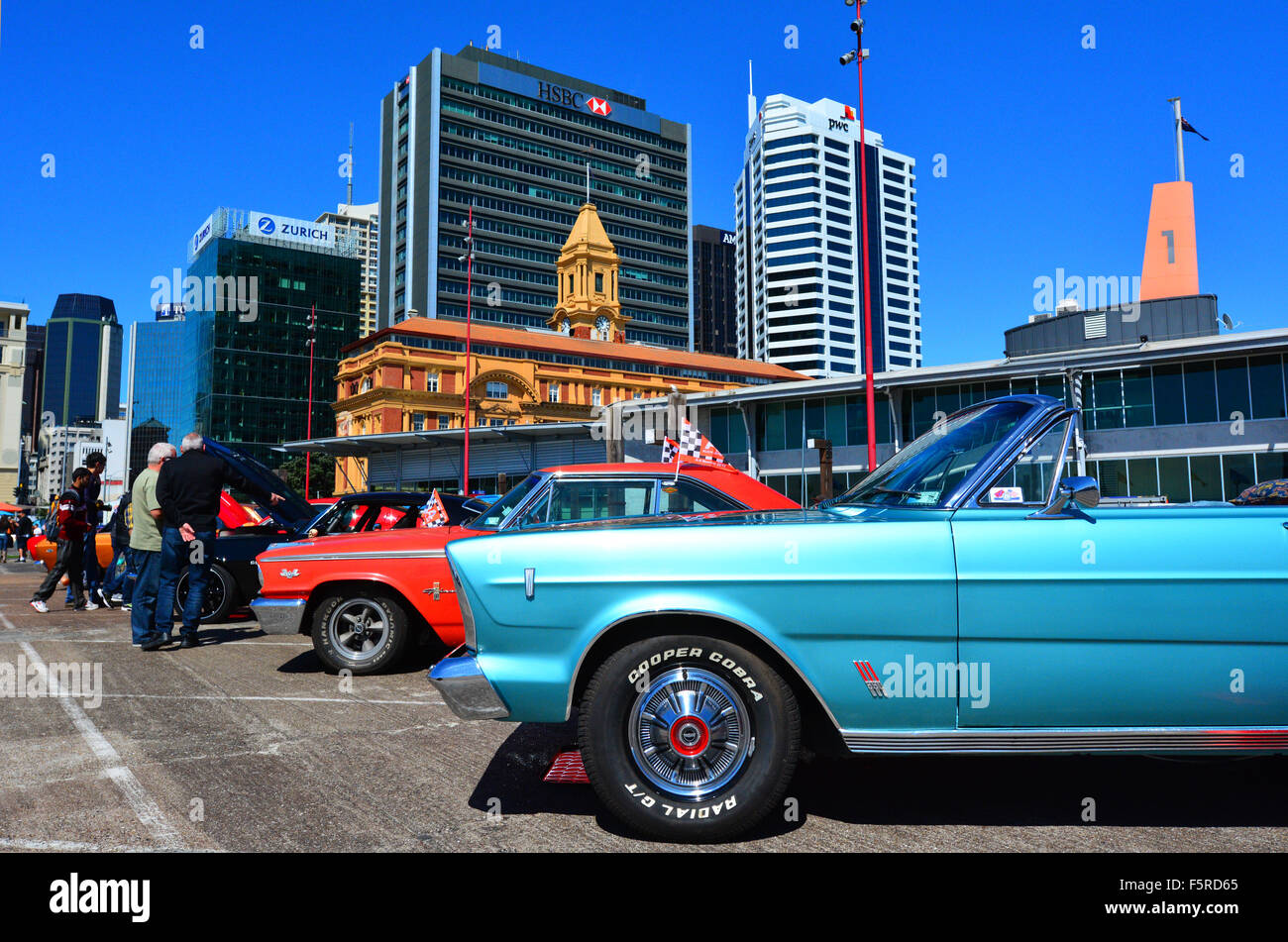 AUCKLAND - NOV 05 2015:Public US classic muscle car show in ...