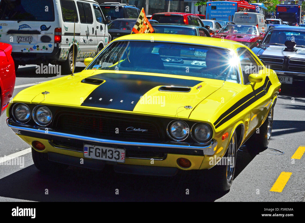 Auckland Nzl Nov Dodge Challenger In A Public Us Muscle