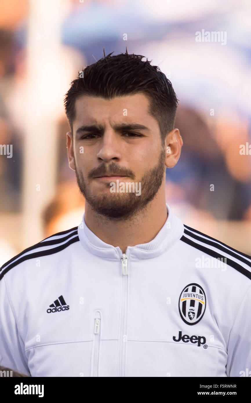 Empoli Italy 8th Nov 2015 Alvaro Morata Juventus Stock