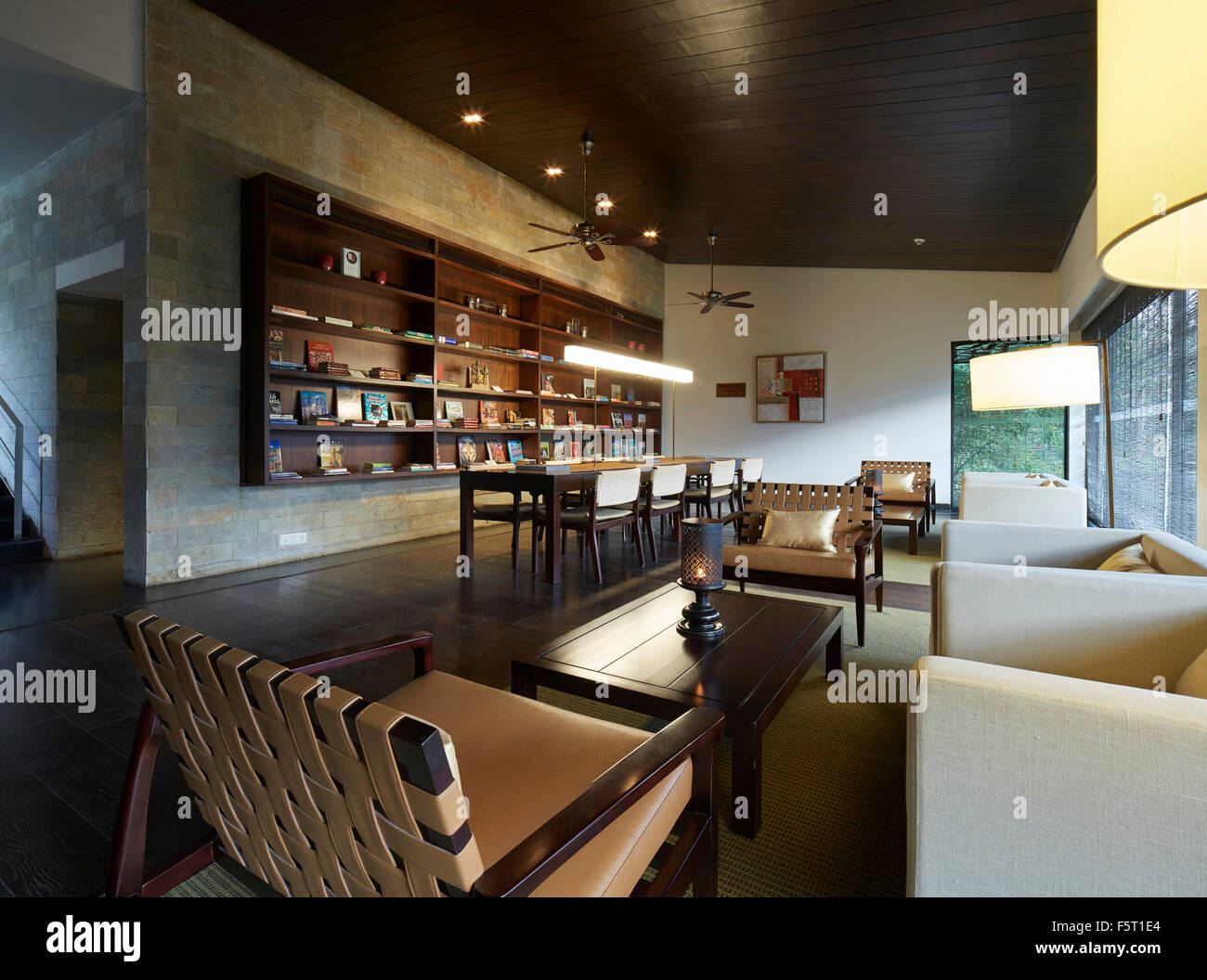 Interior View In Clubhouse Library Shillim Resort Maharastra India Architect Khanna