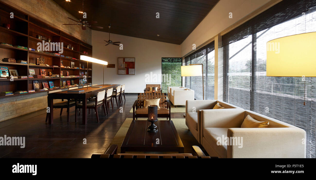 Interior View In Clubhouse Library Shillim Resort Maharastra India Architect Khanna Shultz 2015