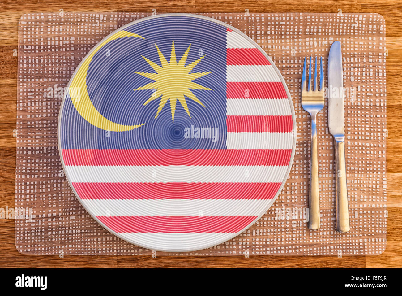 Dinner plate with the flag of Malaysia on it for your international food  and drink concepts Dinner plate with the flag of Malaysia on it for yourDining Plate Set Malaysia  Daily Dining by Nikko Oriental Ceramics  . Dining Plate Set Malaysia. Home Design Ideas