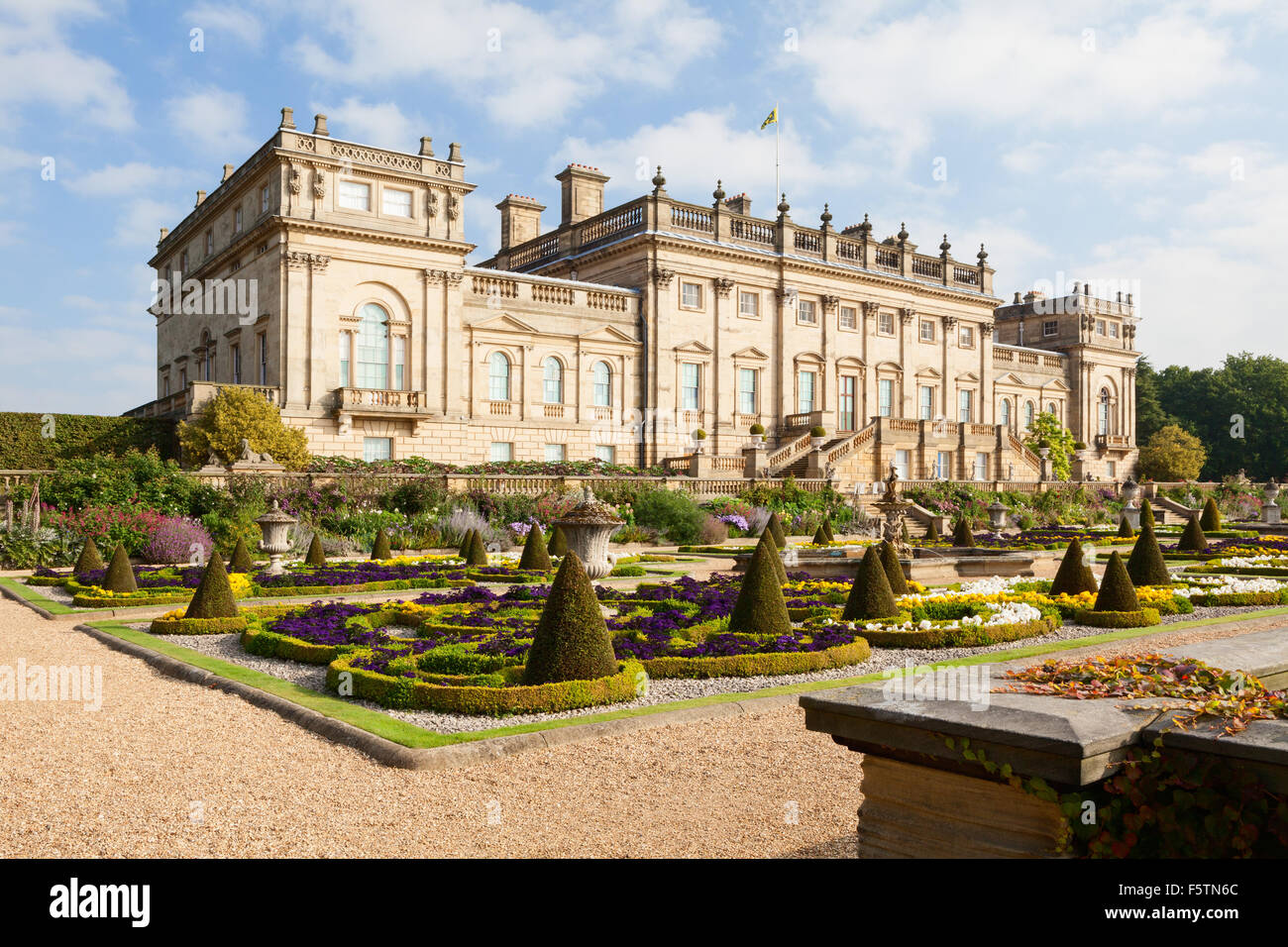 Stock Photo   The Terrace Garden At Harewood House In West Yorkshire, UK.  One Of The Ten Treasure Houses Of England