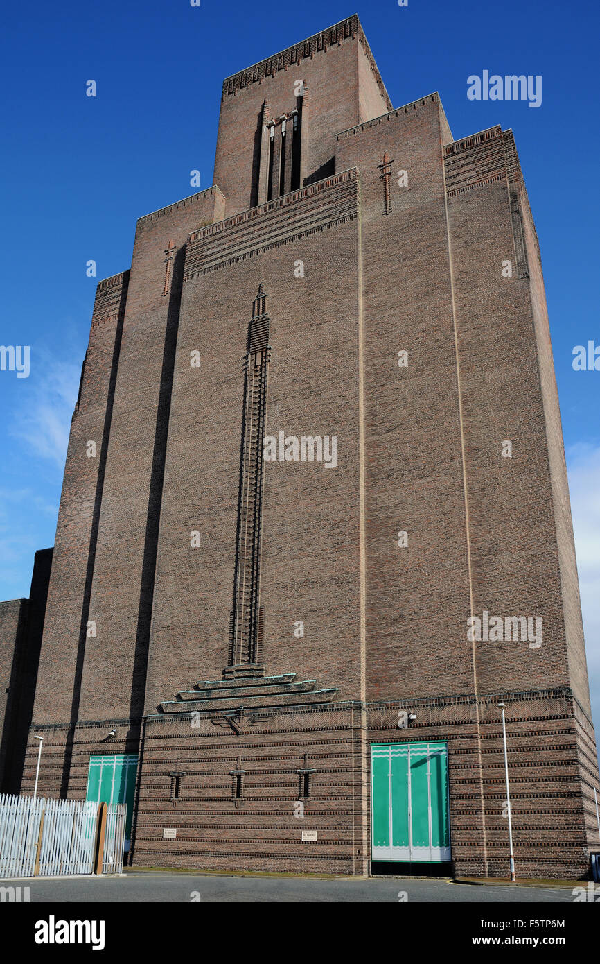 the mersey tunnel ventilation tower at woodside birkenhead wirral stock photo royalty free. Black Bedroom Furniture Sets. Home Design Ideas