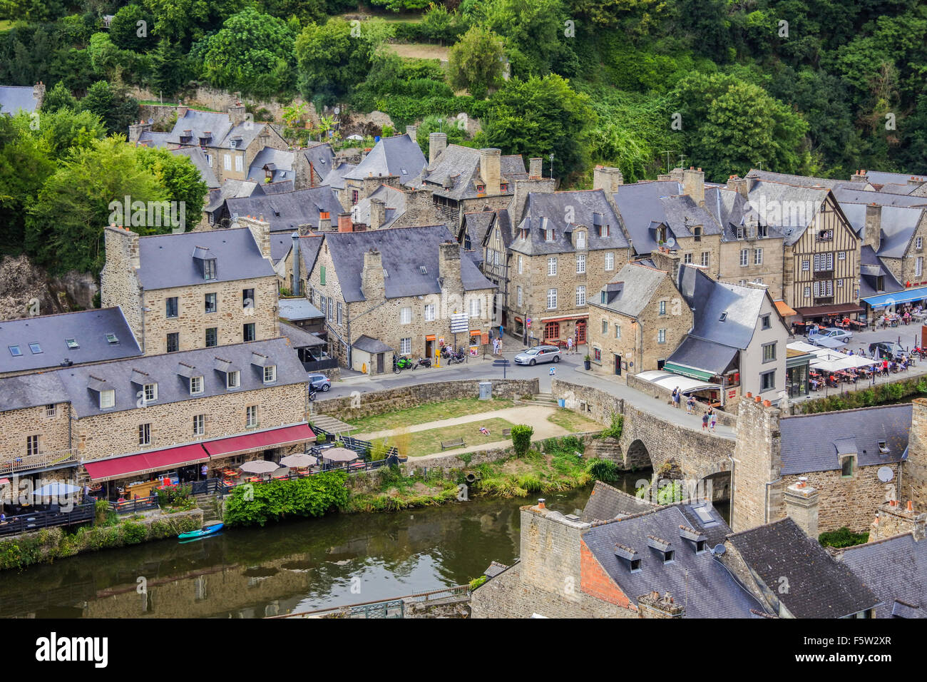 street views of dinan brittany france stock photo royalty free image 89676239 alamy. Black Bedroom Furniture Sets. Home Design Ideas