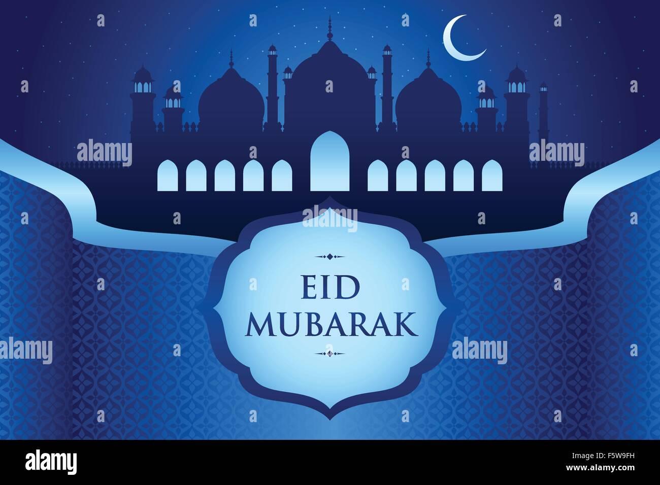 A vector illustration of eid al fitr greeting card design stock a vector illustration of eid al fitr greeting card design kristyandbryce Images